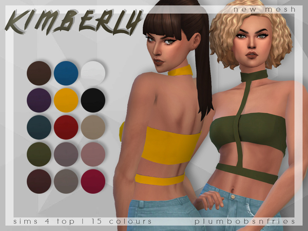 PnF Kimberly bodycon top by Plumbobs n Fries at TSR image 2226 Sims 4 Updates