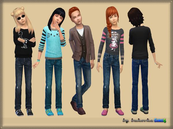 Sims 4 Pants Denim by bukovka at TSR