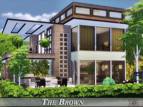 Sims 4 The Brown home by Danuta720 at TSR