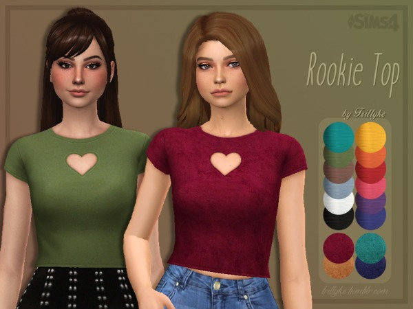 Sims 4 Rookie Top by Trillyke at TSR