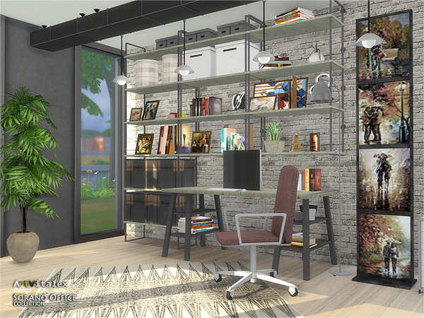 Sorano Office by ArtVitalex at TSR image 2240 Sims 4 Updates