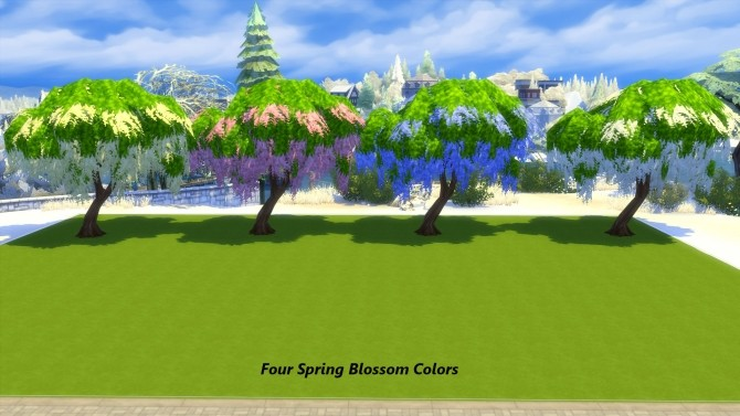 Sims 4 Seasons Weeping Blossom Tree Base Game by Snowhaze at Mod The Sims