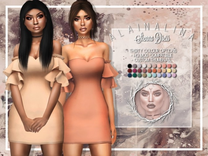 Sims 4 Sienna Dress at AlainaLina