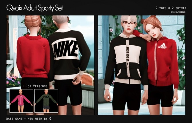 Sims 4 Sporty Set at qvoix – escaping reality