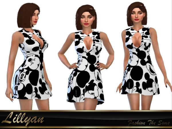 Sims 4 Dresses Mikey by LYLLYAN at TSR