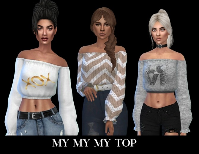 Sims 4 My My My Top recolors at Leo Sims