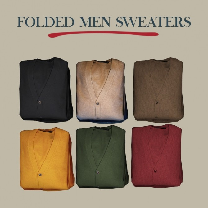 Folded Men Sweaters at Leo Sims image 23110 670x670 Sims 4 Updates