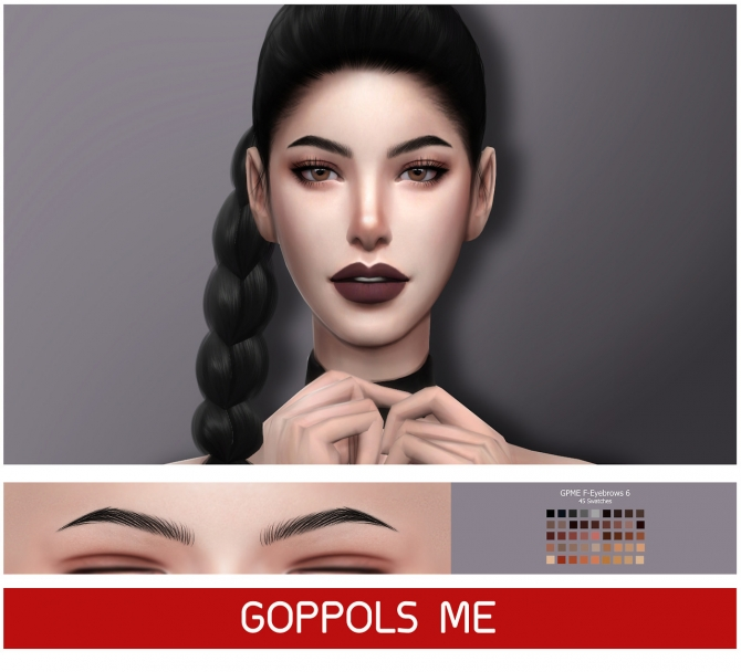 Gpme F Eyebrows 6 At Goppols Me 187 Sims 4 Updates