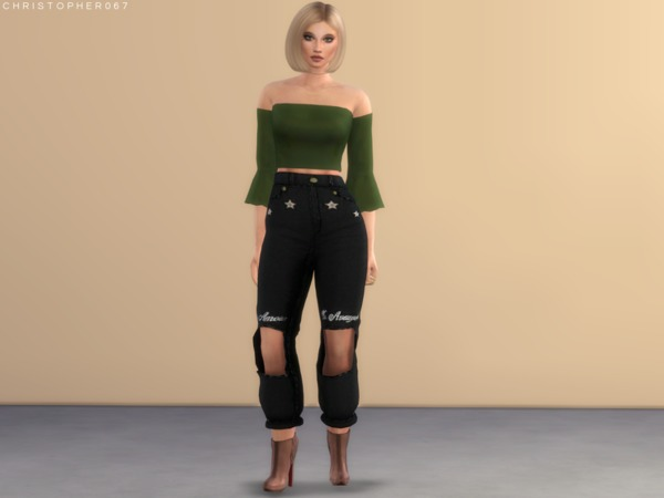 Reagan Top by Christopher067 at TSR image 2314 Sims 4 Updates