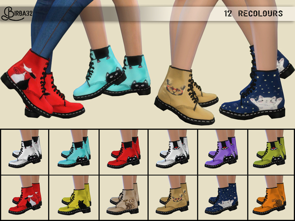 Kitty shoes by Birba32 at TSR image 2321 Sims 4 Updates