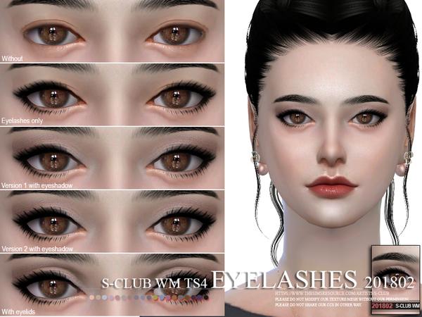 Sims 4 Eyelashes 201802 by S Club WM at TSR