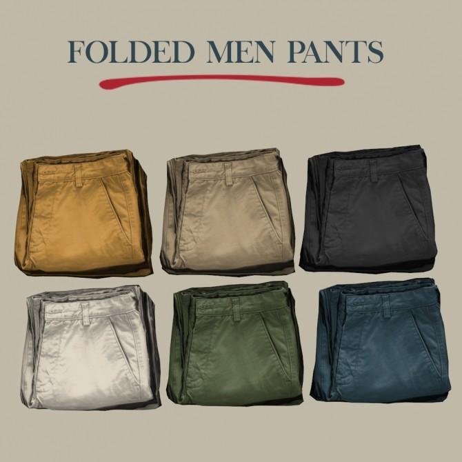 Sims 4 Folded Men Pants at Leo Sims