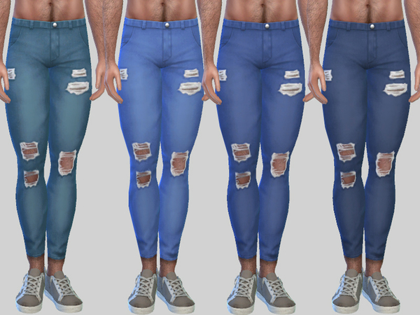 Ripped Denim Jeans Zack 010 by Pinkzombiecupcakes at TSR image 2327 Sims 4 Updates