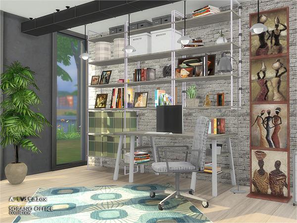 Sims 4 Sorano Office by ArtVitalex at TSR