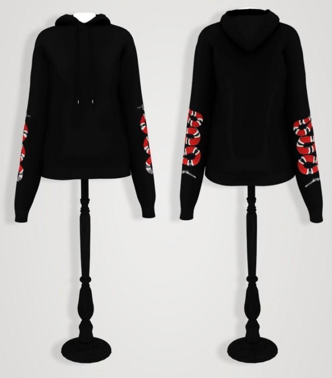 Drop shoulder long hoodie (P) at Elliesimple image 2362 670x762 Sims 4 Updates