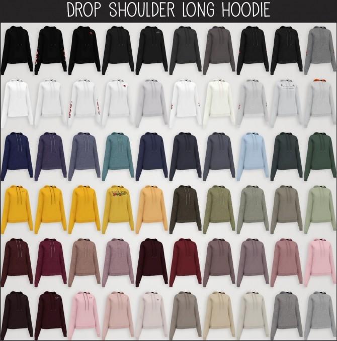 Drop shoulder long hoodie (P) at Elliesimple image 2373 670x679 Sims 4 Updates