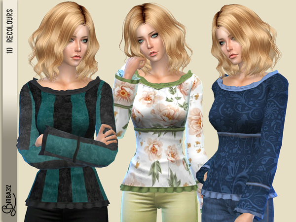Gaia Top by Birba32 at TSR image 2428 Sims 4 Updates