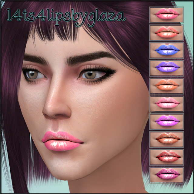 Sims 4 Sunglasses and lipsticks at All by Glaza