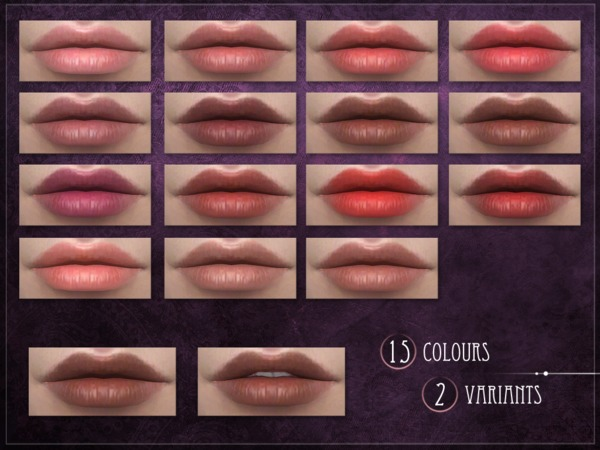 Sims 4 Chloroplast Lipstick by RemusSirion at TSR