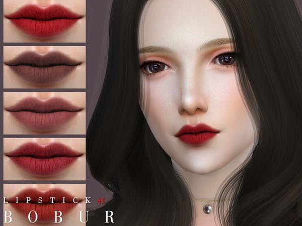 Sims 4 Lipstick 41 by Bobur3 at TSR