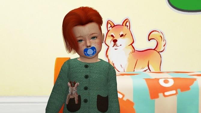 Sims 4 ADE LUCA HAIR T+C at REDHEADSIMS