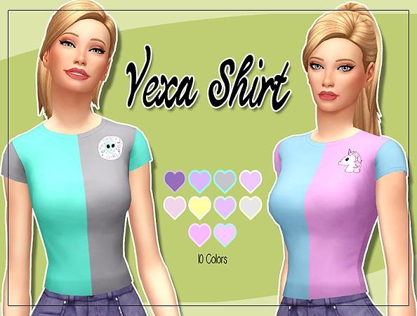 Sims 4 Vexa Shirt at Kass
