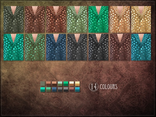 Sims 4 Fungus Top by RemusSirion at TSR