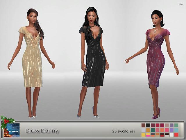 Sims 4 Danny Dress at Elfdor Sims