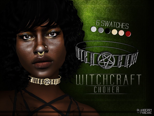 Sims 4 Witchcraft Choker at Blahberry Pancake