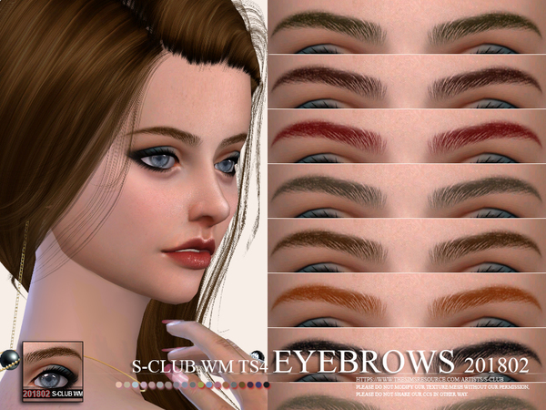 Eyebrows 201802 by S Club WM at TSR image 2627 Sims 4 Updates