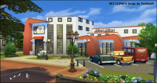 Sims 4 VET CLINICS large and small at Tanitas8 Sims