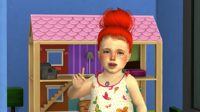 Sims 4 LEAH LILLITH AYLA HAIR 001 TODDLER AND KIDS VERSION at REDHEADSIMS