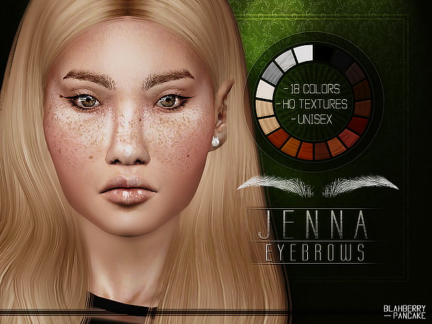 Jenna Eyebrows at Blahberry Pancake image 2642 Sims 4 Updates