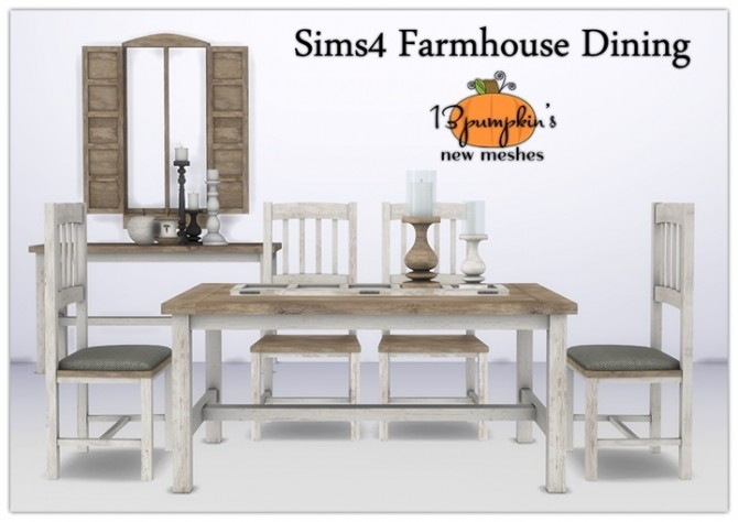 Farmhouse Dining Set at 13pumpkin31 image 2692 670x474 Sims 4 Updates