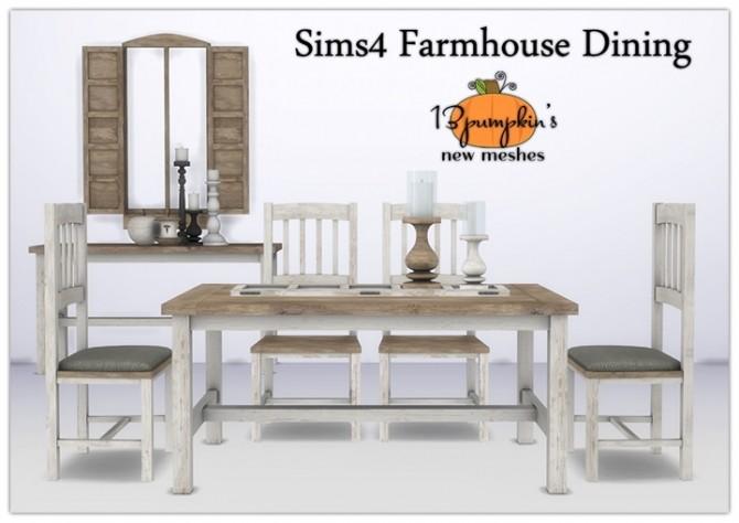 Sims 4 Farmhouse Dining Set at 13pumpkin31