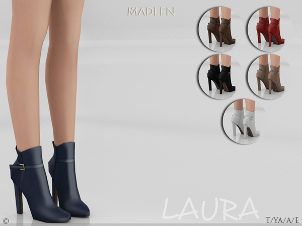 Sims 4 Madlen Laura Boots (short) by MJ95 at TSR