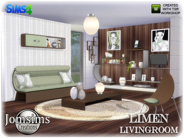 Sims 4 Limen Living room by jomsims at TSR