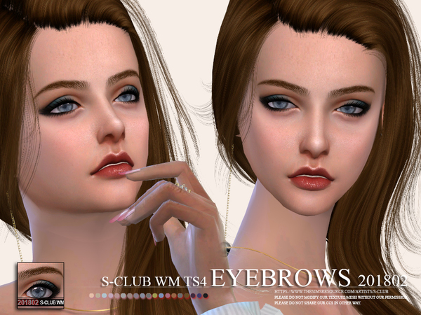 Eyebrows 201802 by S Club WM at TSR image 2725 Sims 4 Updates