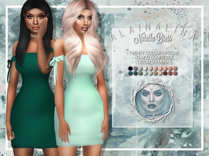 Sims 4 Natalka Dress at AlainaLina