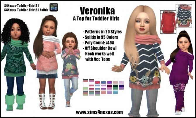 Sims 4 Veronika top by SamanthaGump at Sims 4 Nexus