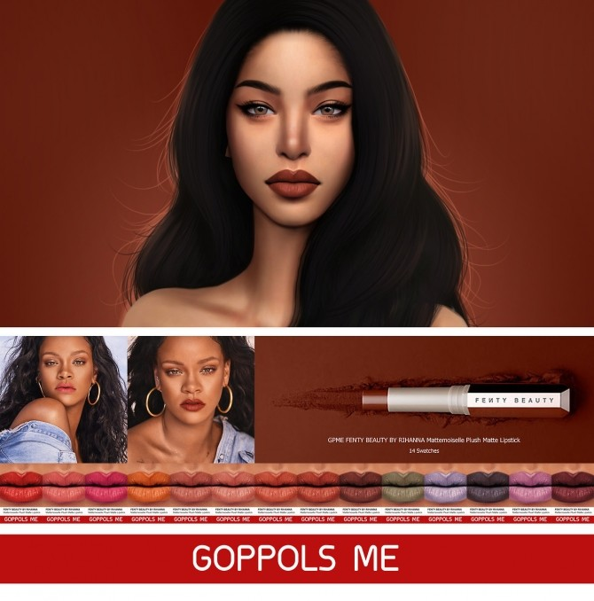 Sims 4 Mattemoiselle Plush Matte Lipstick at GOPPOLS Me
