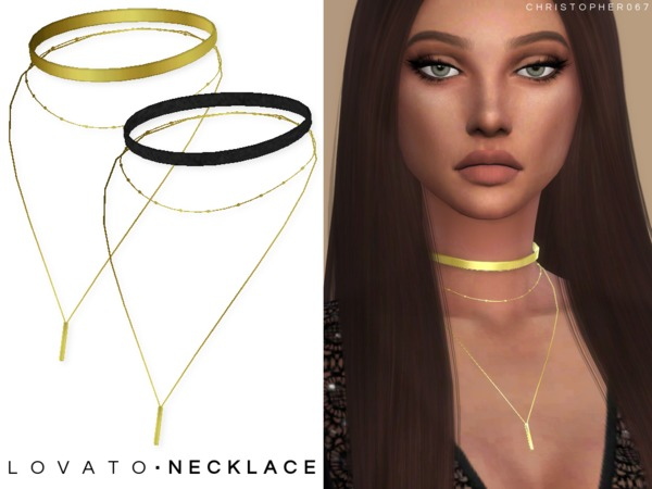 Lovato Necklace 2 Versions by Christopher067 at TSR image 2810 Sims 4 Updates