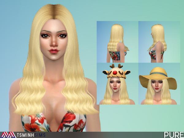 Sims 4 Pure Hair 51 by TsminhSims at TSR