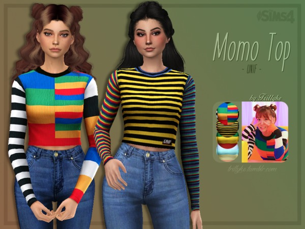 Momo Top by Trillyke at TSR image 2819 Sims 4 Updates