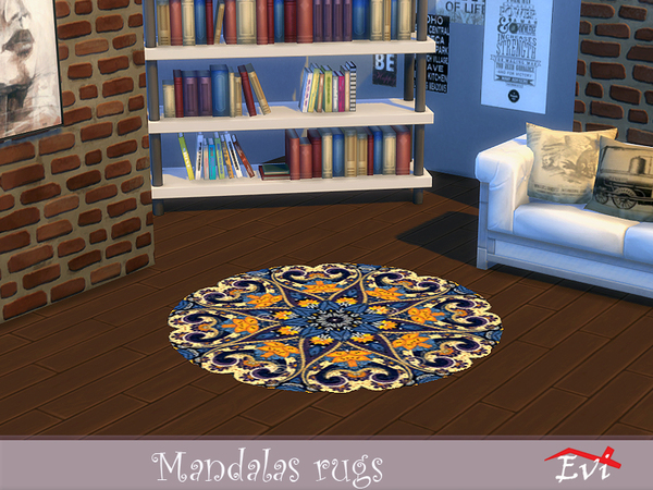 Mandala rugs by evi at TSR image 2832 Sims 4 Updates