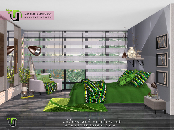 Amber Bedroom by NynaeveDesign at TSR image 29 Sims 4 Updates