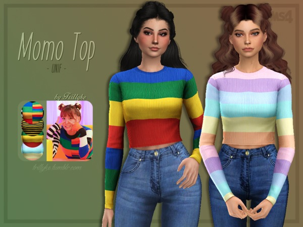 Sims 4 Momo Top by Trillyke at TSR