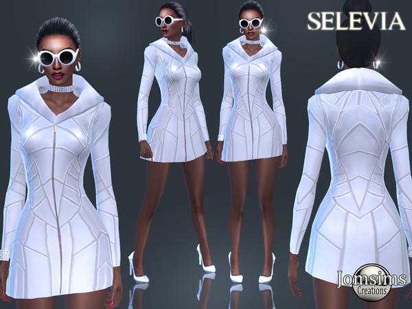 Selevia dress by jomsims at TSR image 2927 Sims 4 Updates