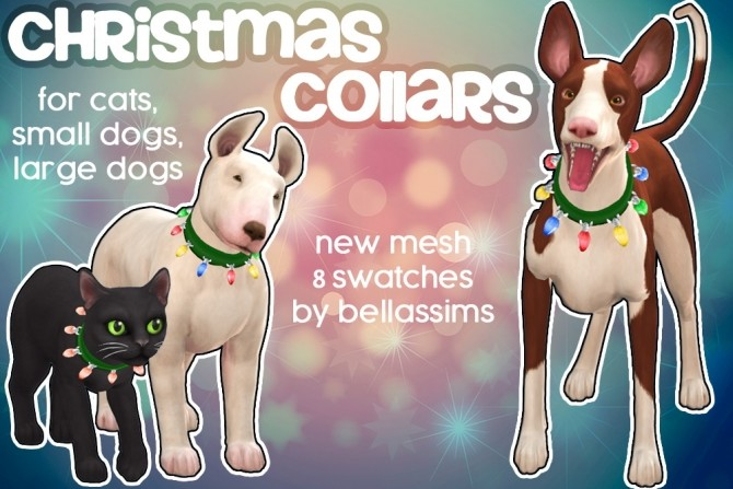 Christmas collars at Bellassims image 299 670x447 Sims 4 Updates