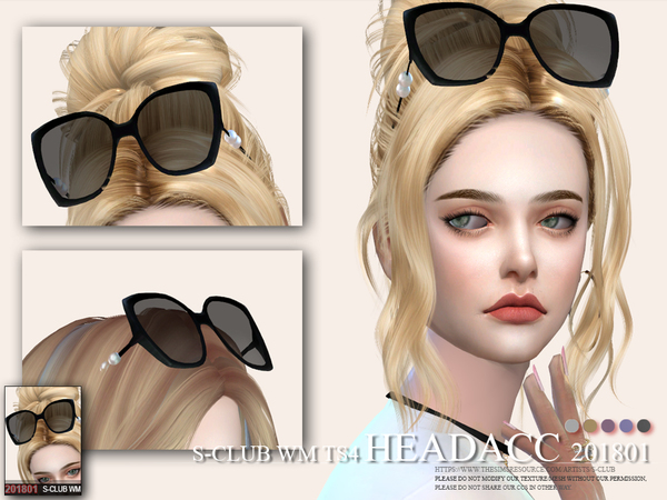 Glasses Head acc F 201801 by S Club WM at TSR image 3012 Sims 4 Updates